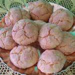 a tray of sardinian amaretti cookies