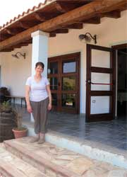 entrance to the agriturism dining room