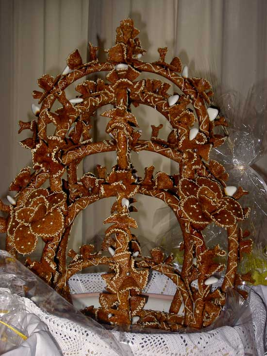 almond brittle cookie sardinia italy gattò