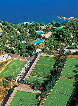 Tennis Courst of the Arbatax Park Resort in Sardinia Italy