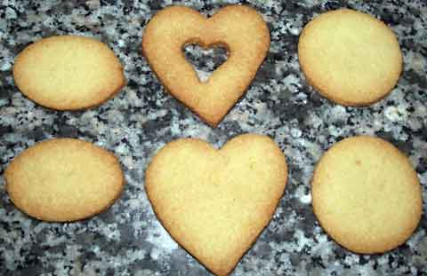 different shaped almond cookies