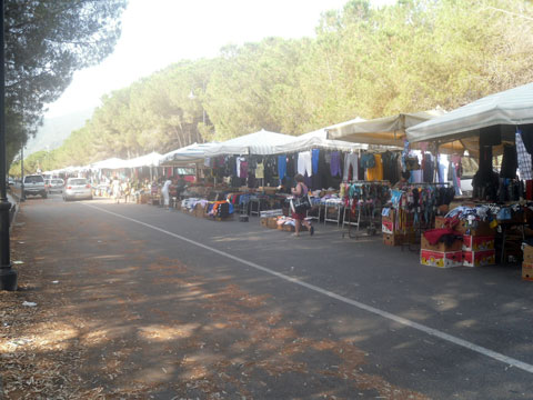 Sunday Market Down At The Museddu Beach