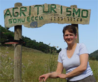 sign post Agriturismo S'Omu Eccia In Ogliastra