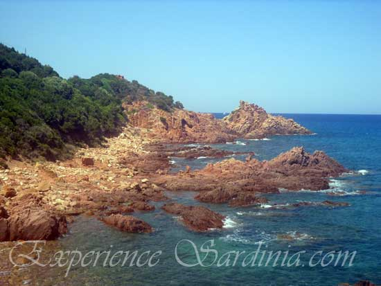 the rocky coastline of the marina di gairo