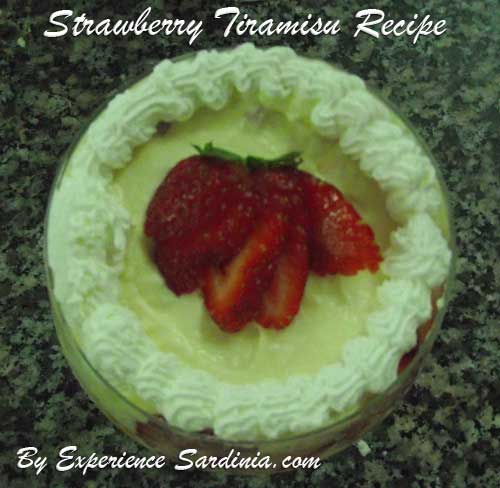 decorated strawberry tiramisu