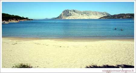 Cala Suaraccia beach in olbia italy