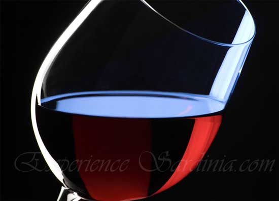  a glass of cannonau wine from sardinia
