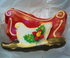 santas sleigh cookie