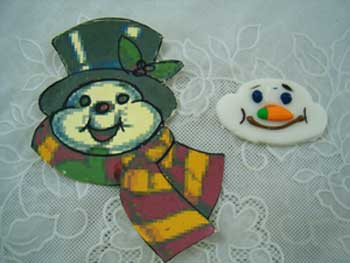 snowman design cookie