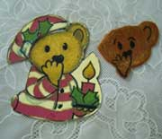 teddy cut out cookies