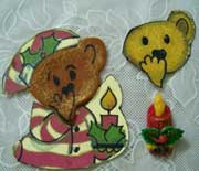 teddy with candlecut out cookies