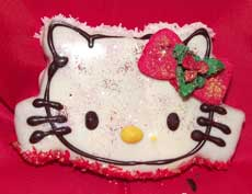 christmas kitty cookies