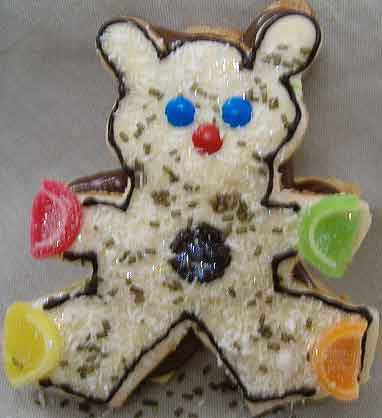 christmas cut out cookies teddy bear
