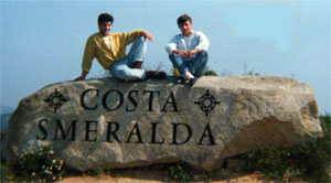 the costa smeralda welcome rock