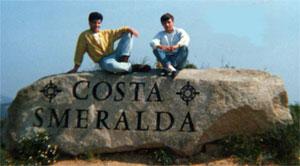 the costa smeralda welcome rock