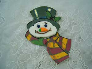 snowman sugar paste face