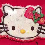 fun xmas hello kitty cookie