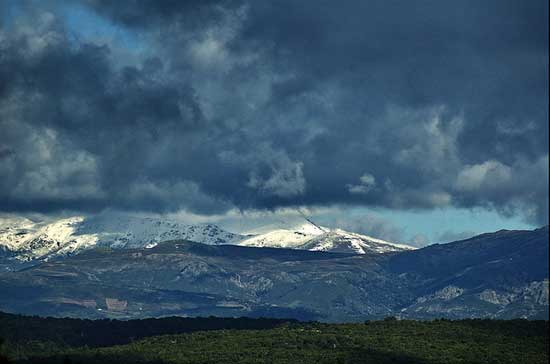 the mountains of gennargentu in sardinia italy