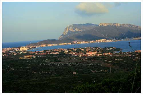 view of golfo aranci in sardinia italy