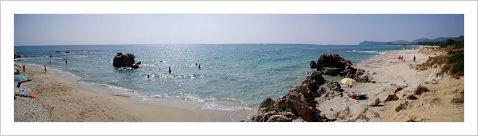 the beach of costa rei in cagliari