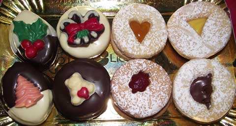 assortment of italian cookies