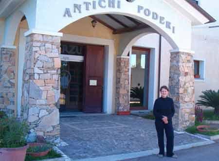 sardinia entrance to jerzu winery