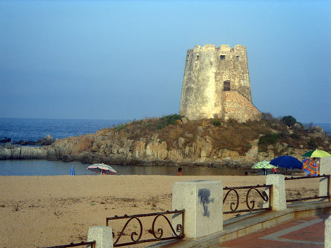 the spanish tower in la torre di barisardo