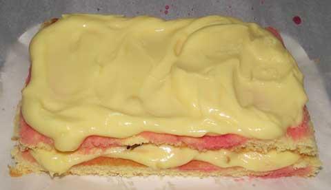 layered italian cream cake