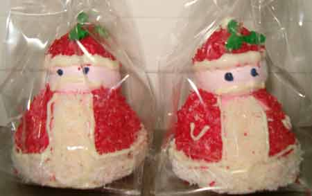 santa cookies made with meringue
