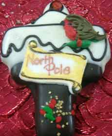 christmas north pole cookie