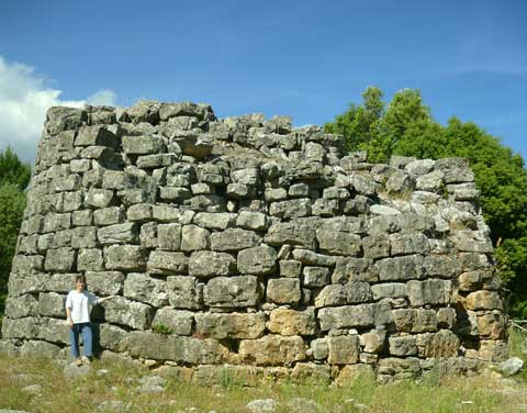 Nuraghe Orrutu in the Tacchi of Osini
