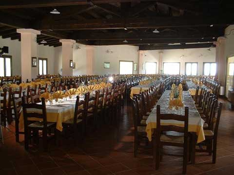 the dining room at the rifugio di ogliastra