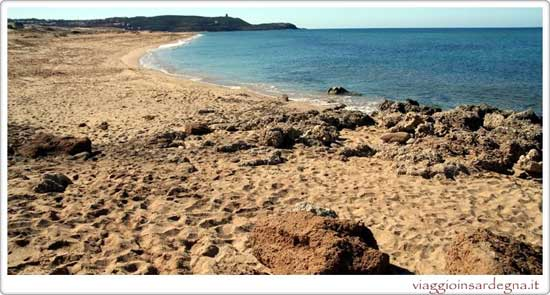 Picture of the Beach Caletta Pistis in medio campidano