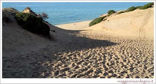 The Beach of Scivu in medio campidano