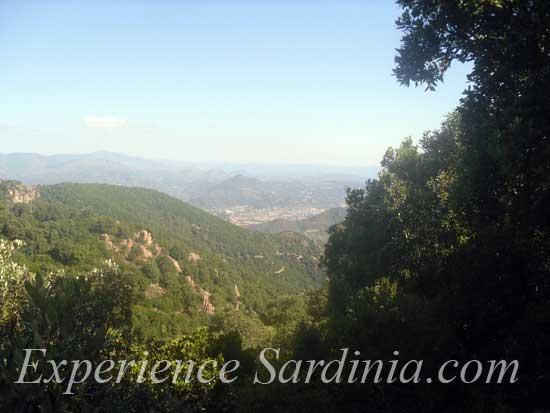 panoramic view from the monti ferru ogliastra sardinia