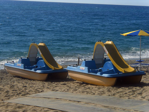 peddle boats on the cardedu beach