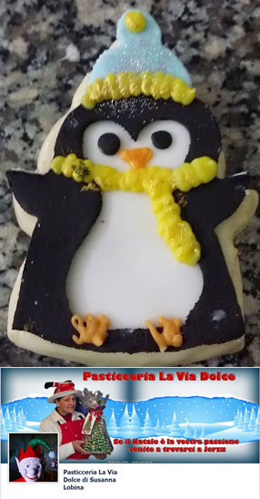 cute penguin cookie