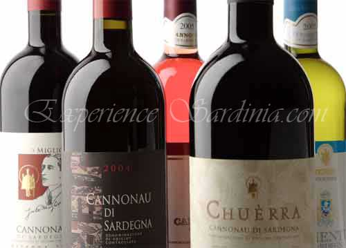 selection of cannonau wine to purchase online