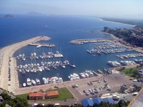 tourist harbor in santa maria navarrese baunei ogliastra sardinia