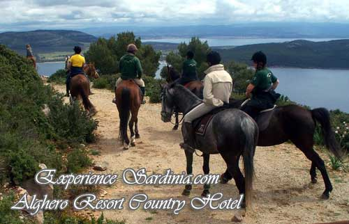 horseback riding with the alghero resort country hotel