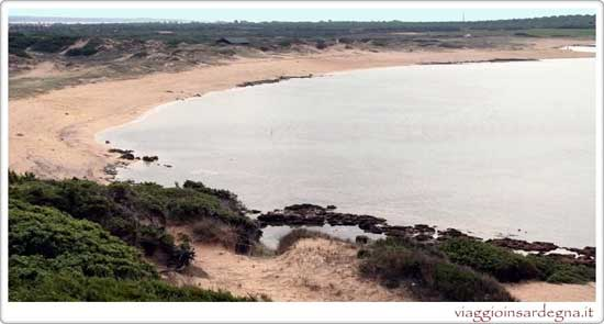 The Sa Mesa Longa Beach in Oristano