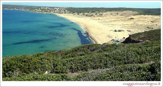 picture of the sabbie di oro beach in medio campidano