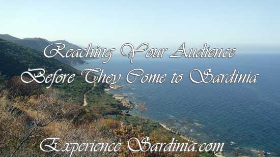infographic about advertising on experience sardinia.com