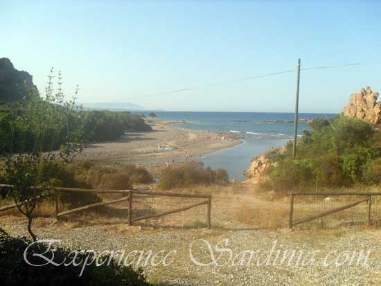 view of the italian beach of the mari dividu in sardinia