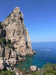 the natural rock formation monument perda longa near baunei