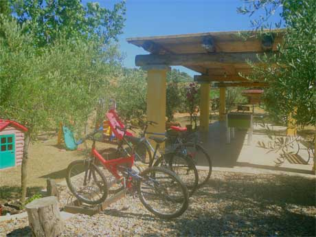 bikes at the villa