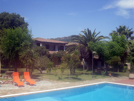 view of villa melissa from the swimming pool