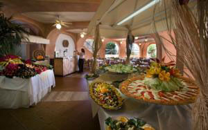 dining room in the arbatax resort