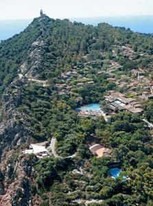 aerial view of the monti turri park