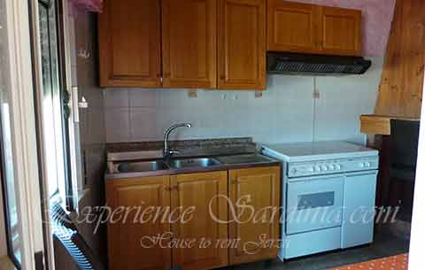 kitchen incheap self catering accomodation in sardinia italy